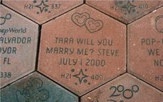 "disneyweddinginspiration:    A unique and Disney inspired way to pop the question, using one of the ""Disney Bricks""! Not only is the proposal fun, but you get an everlasting keepsake to remember it all by.   (Photo source: TikiManPages.com)"