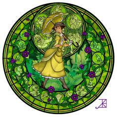 Personagens da Disney em estilo Vitral!     Garotas Geeks