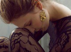 Gold Ripple Earrings by LauraLombardi