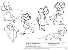 Concept art: Brendan (Secret of Kells, 2009, Cartoon Saloon)