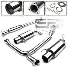 """ACCORD CG J30A1 STAINLESS 2.5"""" EXHAUST PIPING CATBACK 4.5"""" MUFFLER TIP+SILENCER"""