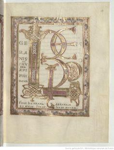 http://gallica.bnf.fr/ Titre : Evangelia quattuor [Evangiles dits de Metz] (1v-177r). — Capitulare evangeliorum (177v-190v). Date d'édition : 0969-0999 Latin 9390 18r