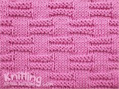 Block Stitch  |  A simple pattern repeat using Knit and Purl combinations