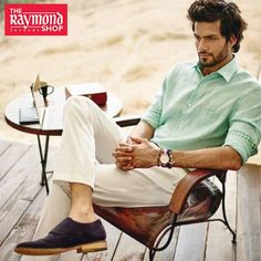 This Summer act cool to the unruly Sun with Raymond's Pure Linen attires ! Shop elegant Summer attires for men TODAY only at The Raymond Seconds Shop - Paldi :) Elite Model, Brand Store, Summer Collection, Handsome, Menswear, Photoshoot, Pure Products, Couple Photos, Cool Stuff