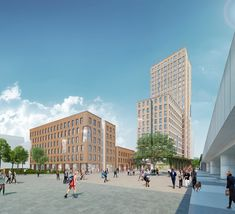 A new trend in 'green building' may be emerging with the construction of a wood building in Vienna and a taller one planned for London. Green Building, Multi Story Building, Wooden Skyscraper, Timber Buildings, Construction, Exterior, Tours, Sustainability, Street View