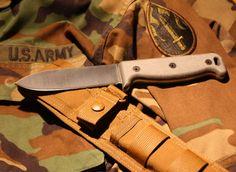 Ontario 7500 SK-5 Blackbird Wilderness Survival Knife, Micarta Handle
