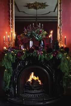 Bring the beauty of nature into the home this Christmas with Winter Bloom. Bursting with an abundance of floral motifs, jewel tones and tarnished metallics, Winter Bloom will create an opulently antique-feel Christmas setting. Merry Christmas, Dark Christmas, Victorian Christmas, Country Christmas, Christmas Home, Vintage Christmas, Christmas Holidays, Christmas Decorations, English Christmas