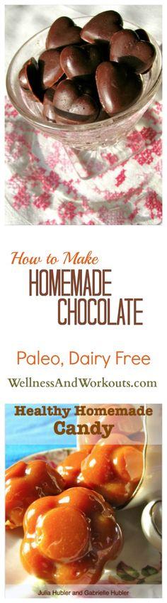 How to Make Homemade Chocolate   Paleo, Fair Trade Cocoa, Gluten Free