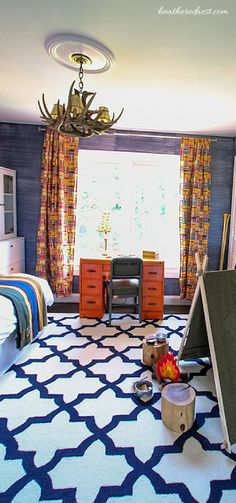 Check out this Boy's Adventure/Outdoor/Camping themed room!  Great ideas for a kids space!!!