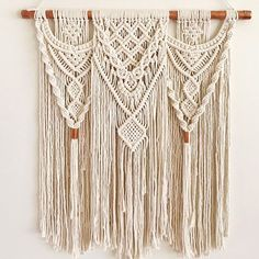 Medium 25 Copper & Cotton Macrame Wall Hanging