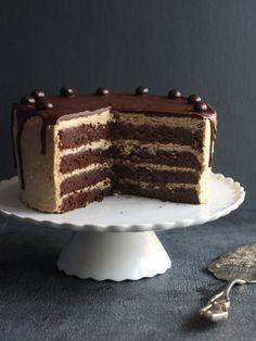 Chocolate Coffee Layer Cake via Completely Delicious #recipe