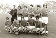 Equipos de fútbol: C. D. MÁLAGA contra Español de Barcelona 11/10/1970