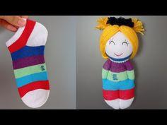 🧦 BİR ÇORAP BU KADAR MI GÜZEL DÖNÜŞÜR... - YouTube Sewing Tutorials, Sewing Crafts, Sewing Projects, Sock Toys, Spring Crafts For Kids, Fabric Toys, Crochet Shoes, Baby Knitting Patterns, Upcycle