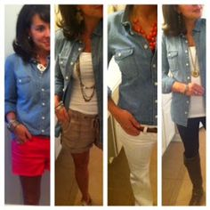 4 perfect ways to style the essential chambray shirt