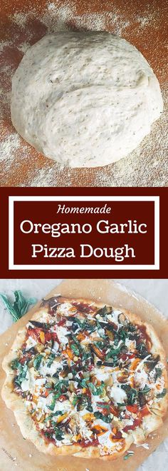Garlic Oregano homemade pizza dough is so easy! Just a few ingredients and minimal kneeding time to get an airy and flavorful pizza crust that you can use with any sauce and topping. You will never want a store bought crust again! Pizza Flavors, Pizza Recipes, Cooking Recipes, Healthy Recipes, Easy Recipes, Tasty Vegetarian, Fresh Tortillas, Do It Yourself Food, Tortilla Pizza