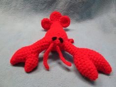 Adorable lobster crocheted by Blessing!