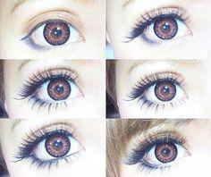 Ideas Makeup Morenas Ojos Grandes - My best makeup list Gyaru Makeup, Kawaii Makeup, Beauty Makeup, Anime Make-up, Manga Eyes, Makeup List, Japanese Makeup, Asian Eyes, Circle Lenses