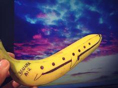 XL-Patch Banane Frucht gelb Obst tropisch Aufnäher Flicken Basteln Aufnähen