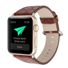 LX Leather Wrist Strap for Apple Watch Band Series 1/2 Replacement Bracelet for iWatch Accessories 42mm 38mm