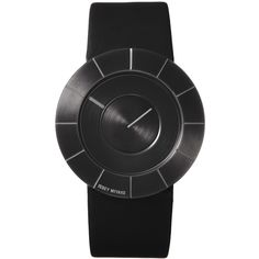 Issey Miyake TO Black Steel Watch | Black Leather