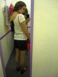 Lace bow shirt blouse