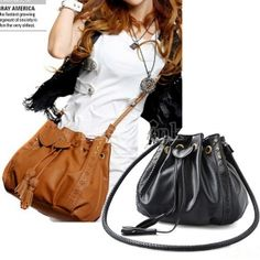 Korean Style Women's Lady Hobo PU leather Handbag Fashion Shoulder Bag Purse