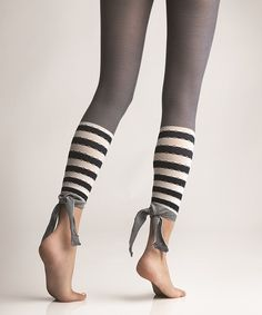 Ink Malibu Stripe Footless Tights | Daily deals for moms, babies and kids