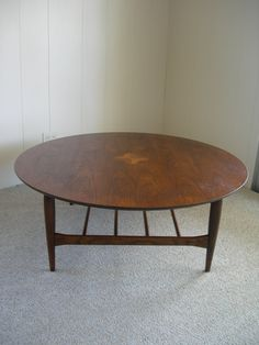Basset Artisan Mid Century Round Coffee Table With By VEEJAYB, $288.00