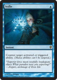 Stifle from 'Magic: The Gathering - Conspiracy' Read the full article at http://www.examiner.com/article/stifle-from-conspiracy  #mtg #mtgcns #magicthegathering #games #cardgames #videogames #geek #nerd #article #examinercom