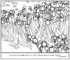 Van Gogh Coloring Pages   Coloring Pages   Pinterest   Van gogh ...