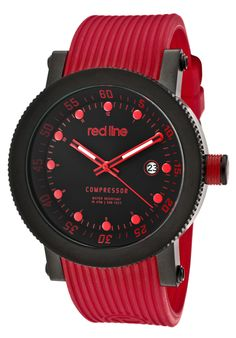 Red Line 18000-01RD-BB-RD-ST, An aura of brilliance. This Red Line timepiece glows with its irradiant charm. Its smooth design will intensify anyone's personality.