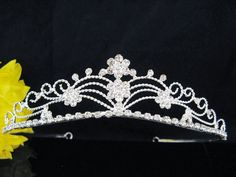 22.00$  Buy now - http://viqsw.justgood.pw/vig/item.php?t=kgpc5ps18898 - WEDDING TIARAS;CRYSTAL HEADPIECE;BRIDAL ACCESSORIES;FLORAL RHINESTONE REGAL A311 22.00$