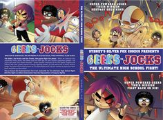 """In August 2014, the Silver Fox Comics family began work on the 2015 new release """"Geeks Vs Jocks"""". 9 months later just like a new kid LOL, we're hoping to have this new monster child ready this Friday just in time for the weekend to premiere at Comic Gong. I can't wait to release it - fingers crossed we make the deadline, Here's the cover."""