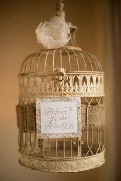 gorgeous gold cage for advice for the bride