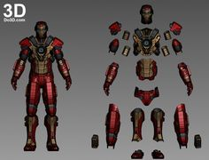 3D Printable Suit: Mark XVII Armor (Model: HeartBreaker MK 17) from Iron Man 3 (2013) | Print File Formats: STL – Do3D.com