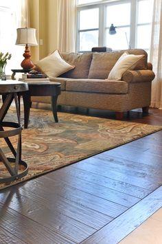 Hand Scraped Black Walnut Medieval by Vintage Hardwood Flooring. Love the side plank laid sideways