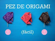 Pez de papel de origami y acuario!! - Los Versos y Reversos