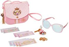 Disney Princess Style Collection World Traveler Purse Set Bag with Strap, Sunglasses, Key with Charm, 5 Coins & 8 Paper Bills for Girls Ages 3+ Barbie Pink Passport, Play Barbie, Barbie Party, Barbie Doll, Disney Princess Toys, Minnie Bow, Minnie Mouse, Kitchen, Make Up