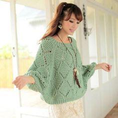 Women's Hand Knit Boatneck Sweater – Hand Knitting Knitting Designs, Knitting Stitches, Hand Knitting, Knitting Patterns, Hand Knitted Sweaters, Knitted Poncho, Cardigan Sweaters For Women, Women's Sweaters, Handgestrickte Pullover