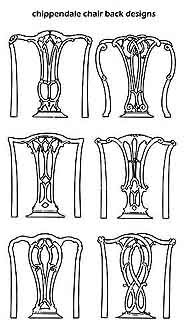 Designs of English CHIPPENDALE CHAIR BACK DESIGNS   chairbacks