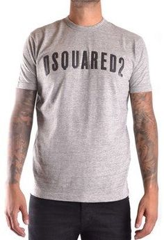 DSQUARED2 Men's Grey Cotton T-shirt.