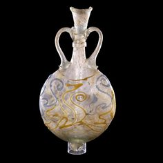 Glass flask    Roman, AD 200-300  From Cologne, Germany, perhaps the Krefeld…