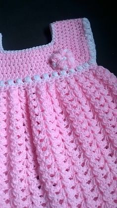 4eaaf22d0d17 Easy Crochet Baby Dress Pattern (Free) - Taking the next step in ...