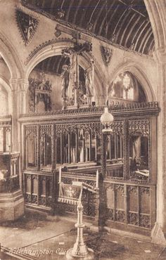 #retweet #postcards Vintage Postcard KILKHAMPTON Church Interior, Cornwall #K #RT 50% OFF when you Buy 3+