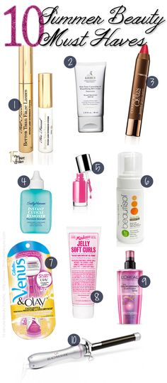 Top 10 Tuesday: My Favorite Summer Products via @15 Minute Beauty
