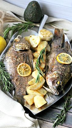 One-pan Fish and Potatoes Dinner