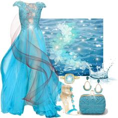 """""""The Sky And The Ocean Painted Blue On Blue"""" by cocohollywood on Polyvore"""