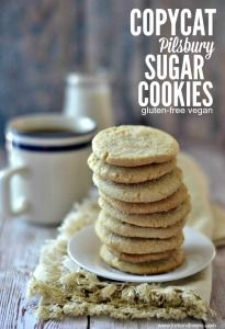 Copycat Pilsbury Sugar Cookies (gluten-free vegan) - Fork & Beans