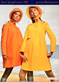 Here's a GRooovy solution for all that summer rain! Stay dry and look GRooovy at the same time! #Sears #fashion #1968 #Groovy