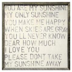 Sugarboo Designs Art Print You Are My Sunshine